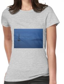 Anchored by Sillouette Island  Womens Fitted T-Shirt