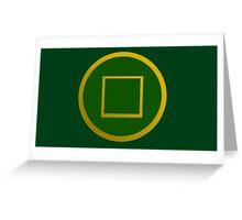 Avatar: Dai Li symbol Greeting Card