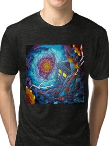 Tardis stained glass style  Tri-blend T-Shirt
