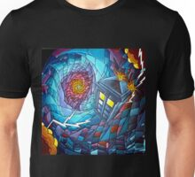 Tardis stained glass style  Unisex T-Shirt