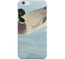 Vintage famous art - Hashiguchi Goyo - Ducks iPhone Case/Skin