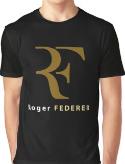 "Roger Federer "" R F "" Graphic T-Shirt"
