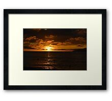 Golden Seychelles Sunset Framed Print