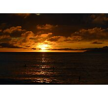 Golden Seychelles Sunset Photographic Print