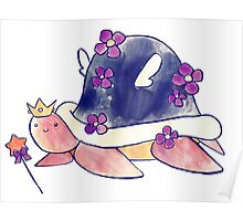 Fairy Princess Turtle Poster