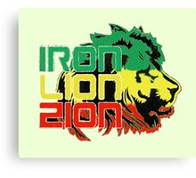 Reggae Rasta Iron, Lion, Zion Canvas Print