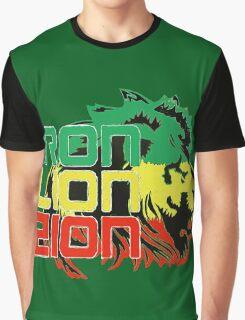Reggae Rasta Iron, Lion, Zion Graphic T-Shirt