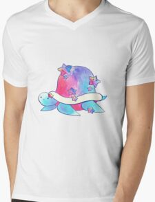 Rainbow Star Turtle Watercolor Mens V-Neck T-Shirt
