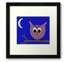 owl in the night Framed Print