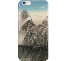 Vintage famous art - Hashiguchi Goyo - Evening Moon At Kobe (Kobe No Yoizuki) iPhone Case/Skin