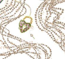 Edwardian Pearls, Bejewelled Ribbon & Padlock Jewellery  Sticker