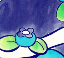 Blueberry Turtle Watercolor Sticker