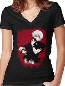 Eyepatch Women's Fitted V-Neck T-Shirt
