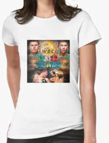 Canelo vs GGG WBC (T-shirt, Phone Case & more) Womens Fitted T-Shirt