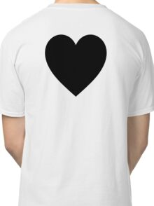 Black Heart, Love Heart, Heart, Treachery, Betrayal, Pure & Simple, on WHITE Classic T-Shirt