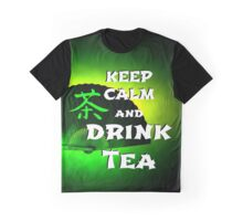Keep Calm And Drink Tea - green Tea Graphic T-Shirt