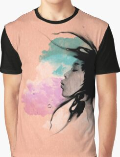 Psychedelic Blow Japanese Girl Dream Graphic T-Shirt