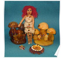 Amber Faerie Doll Poster