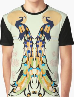 Golden Peacocks Graphic T-Shirt