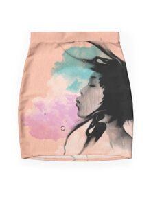 Psychedelic Blow Japanese Girl Dream Mini Skirt