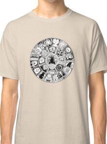Cat Mandala Black and White Classic T-Shirt