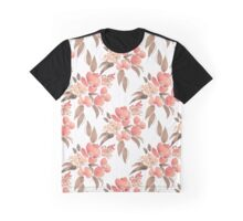 Watercolor illustration with leaves and flowers Graphic T-Shirt