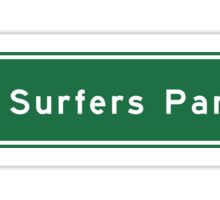 Surfers Paradise, Road Sign, Gold Coast, Australia Sticker