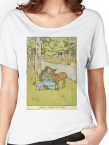 Vintage famous art - Helen Stratton - Hansel And Gretel 1906 Women's Relaxed Fit T-Shirt
