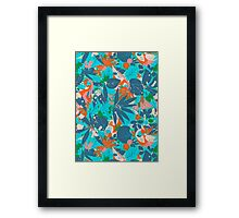 Brazil Hip Hop Pattern by Pepe Psyche Framed Print