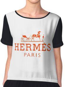 Hermes Paris  Chiffon Top