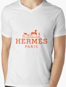 Hermes Paris  Mens V-Neck T-Shirt