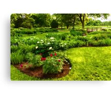 Lush Green Gardens - the Beauty of June Canvas Print