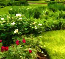Lush Green Gardens - the Beauty of June Sticker