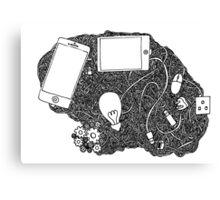 Wired brain Canvas Print