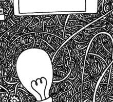 Wired brain Sticker