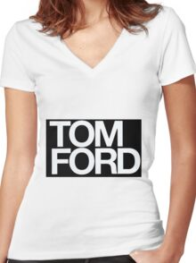TOM FORD #fashion Women's Fitted V-Neck T-Shirt