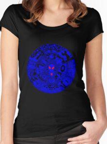 Alien Mandala Blue Women's Fitted Scoop T-Shirt