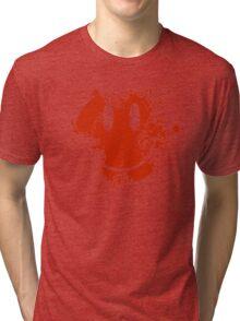 Acid House Smiley Face - Grunge Tri-blend T-Shirt