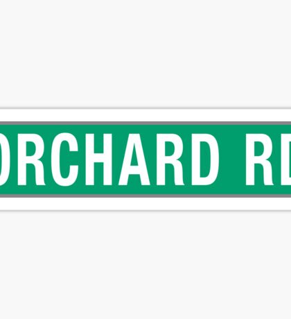 Orchard Rd, Street Sign, Singapore Sticker