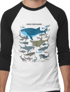 Know Your Sharks Men's Baseball ¾ T-Shirt