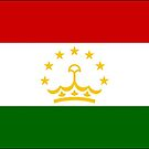 Tajikistan Flag Stickers by Mark Podger