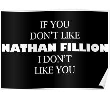 I like Nathan Fillion Poster