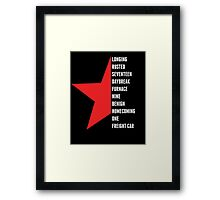 Ready to Comply? Framed Print
