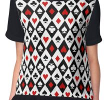Playing cards suit symbols Chiffon Top