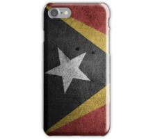 East Timor Flag Grunge iPhone Case/Skin
