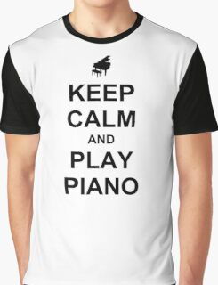 Play Piano (Black) Graphic T-Shirt