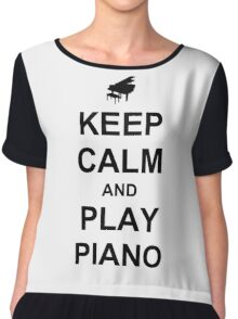 Play Piano (Black) Chiffon Top