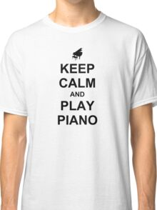 Play Piano (Black) Classic T-Shirt