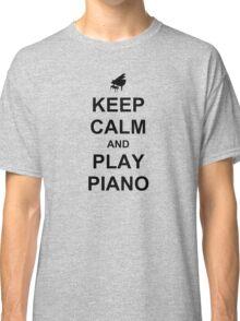 Play Piano (Black) Classic T-Shirt