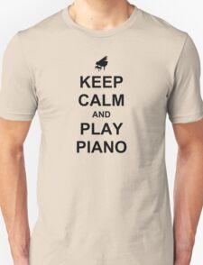 Play Piano (Black) Unisex T-Shirt